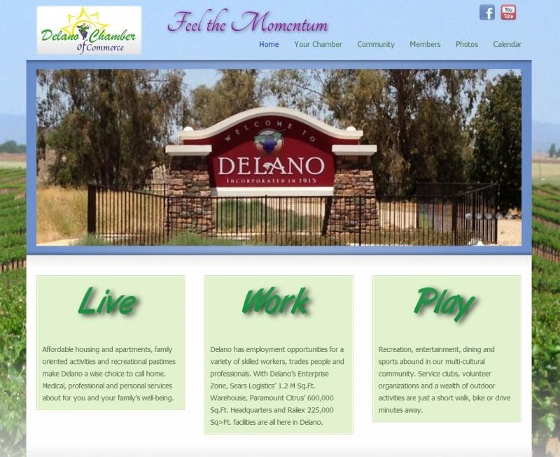 Delano Chamber of Commerce website