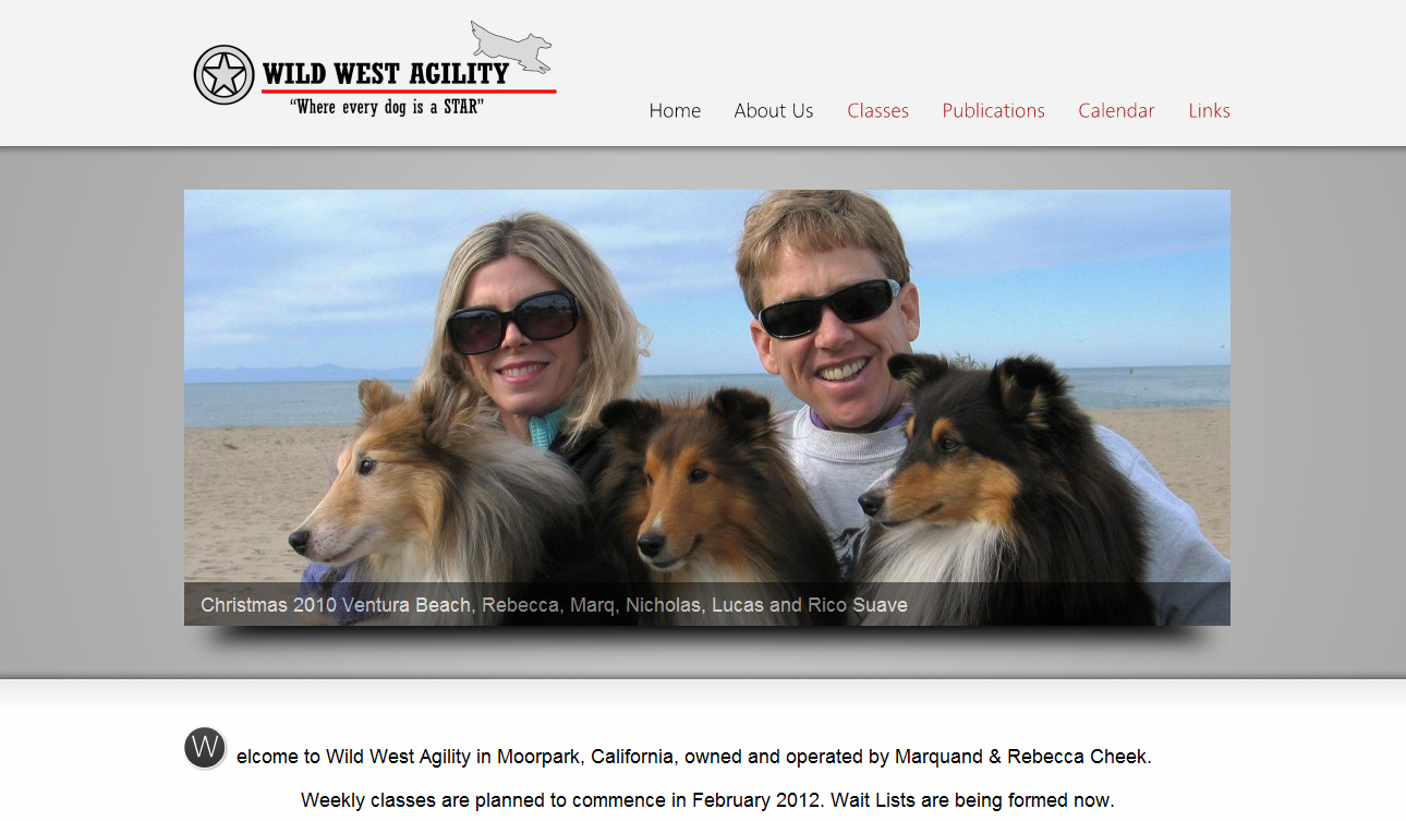 Wild West Agility website