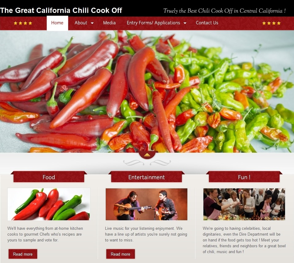 Chili Cook Off website